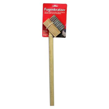 12-90173, Fugenkratzer mit Holzstiel 130cm