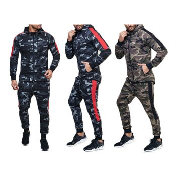 attractive price good looking look out for Herren Jogging Anzug Camouflage Trend Streifen Sportanzug Baumwolle  Trainingsanzug Trainingsjacke Jogginganzug Hausanzug - 17,90 Euro