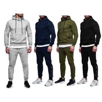 Herren Jogging Anzug Sportanzug Baumwolle Trainingsanzug Trainingsjacke Jogginganzug Hausanzug - 17,90 Euro