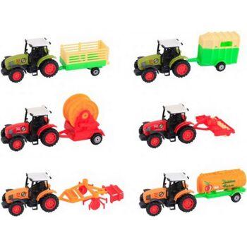 MW D/C Traktor mit Anhänger sortiert, 1 Stück