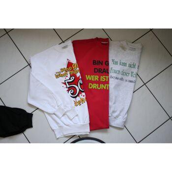 Fun Sweatshirts S-XXL mit verschiedenen Drucken