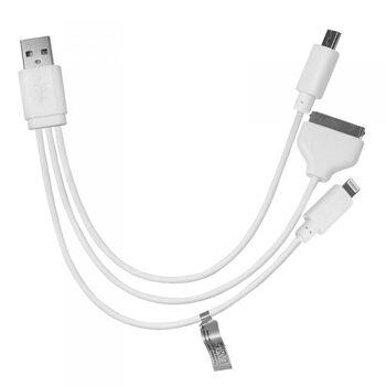 3in1 USB Ladekabel für Samsung S4, iPhone 5 5S 5C 6 6+ 6S 6S+ 7 7+ 8 8+ Eaxus