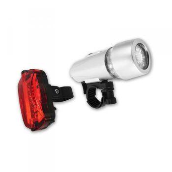 Beleuchtungsset 5 LEDs und verschiedene Leuchtmodi vorne und hinten, Eaxus
