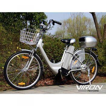 Elektrofahrrad Citybike 250W/36V, Korb, Federgabel, Komfortsattel Viron Motors