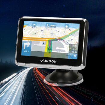 "GPS Navigationssystem 11cm (4,5), 8GB, 3D, EU Karten, FM, AV-Input Vordon"""