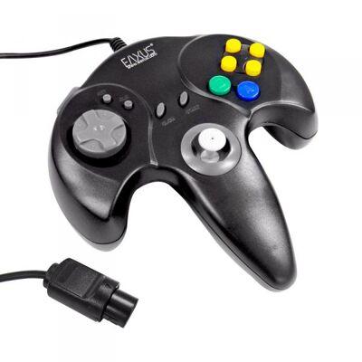 Nintendo 64, N64 Controller schwarz, Retro Gamepad für Videospiele Eaxus