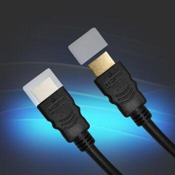 Qualitäts 1,8m HDMI Verbindungskabel, gold Eaxus
