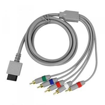 Wii U und Wii 1,8m Komponentenkabel mit vergoldeten Anschlüssen, Eaxus