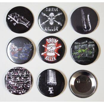 Set 9 x Anstecknadel Button ROCK YOU© Music Motive