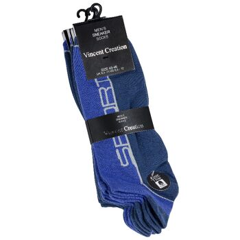Vincent Creation® zweifarbige Herren Sneakersocken