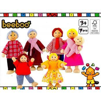 BEEBOO Puppenhaus Familie, 1 Stück
