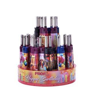 12-40411615, elektronik Ministabfeuerzeug Geburstagsmotiv