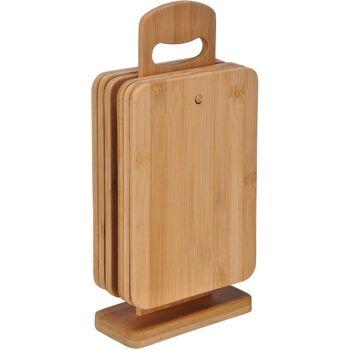 28-285732, Holz Frühstücksbrettchen Set 7-teilig mit Ständer