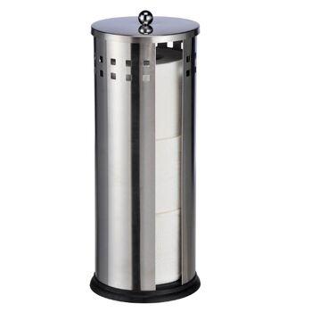 28-332009, Edelstahl Toilettenpapierhalter Höhe 35 cm, WC Papierhalter