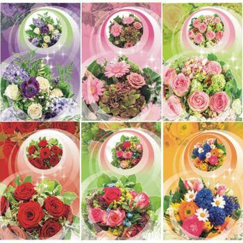 28-431508, Karten Blumen Blanko, Geschenkkarten, Glückwunschkarten