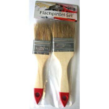 12-90404, Malerpinsel flach 2er Set, 3,5 + 5cm, Flachpinsel
