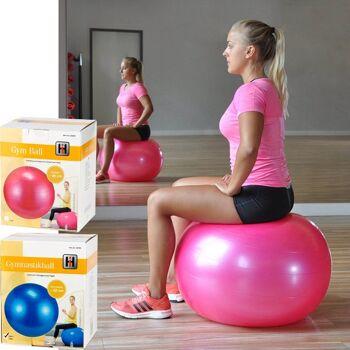 28-660461, Gymnastik-Ball 65 cm, Sitzball, Fitnessball, bis 100 kg belastbar, mit Übungsanleitung