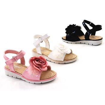 Kinder Baby Mädchen Sommer Sandale Rose Lack Größe 19-36 Sandalette Slipper Schuh nur 6,90 Euro