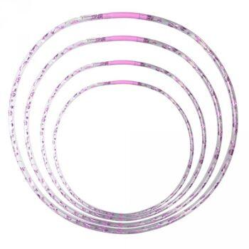Hula Hoop mit LED, 4 Stk. Ø 66,72,76,82 cm