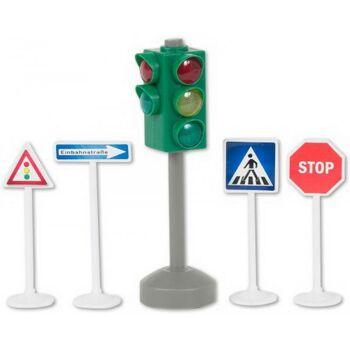 Verkehrsampel mit Verk.zeichen, Licht, 1 Stück