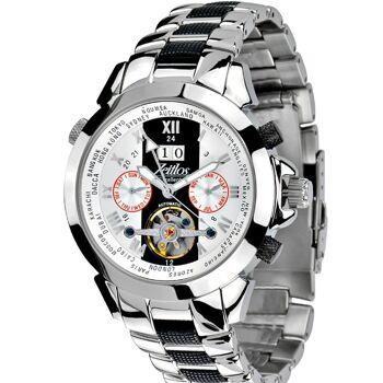 Zeitlos ZL-ES-10 B Automatik Herrenuhr Armbanduhr Exzellent Beast Farbe silber Herren Herr Männer Mann Uhr Automatikuhr