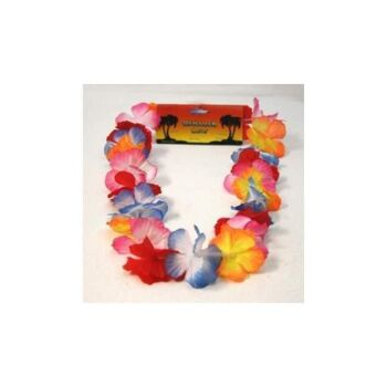 Hawaiiblumenkette, 105 cm, Blumenkette, Karneval, Fasching, Party, Dekoration, Event