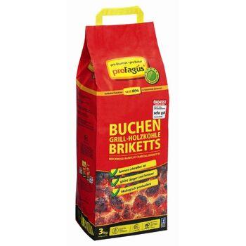 12-60001051, Sommer-Hit Grillis Briquettes 3,0 Kg Sommerhit, Grillkohle, Buchenholz