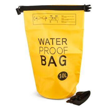 28-113334, wasserdichte Tasche/Sack 10 liter, Rucksack, Sporttasche, Reisetasche, für Strand, Wandern, Segeln, Camping