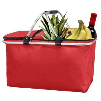 28-224394, Faltbarer Einkaufskorb 45 x 25 cm, Shopping Bag, Aluminiumrahmen, vielseitig nutzbar