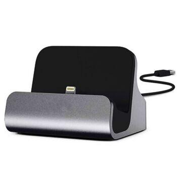 Ladestation Dockingstation - Iphone Lightning Anschluss schwarz/ grau