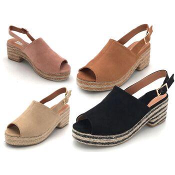 Damen Woman Sommer Trend Espadrilles Sandalette Sandale Pantolette Schuh Shoes Business Freizeit nur 11,90 Euro