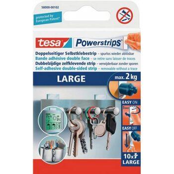 Haftstreifen Powerstrips large L. 50mm B. 20mm für Gegenstände b. 300g tesa,10St.