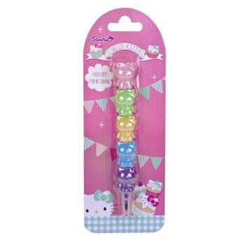 27-43054, Hello Kitty Tea Party Wachsmalstift Steckstift , Steckstift besteht aus 5 farbigen Hello Kitty Wachsmalern
