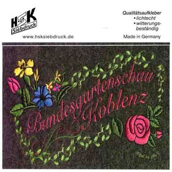 Set 30 x Aufkleber Bundesgartenschau Koblenz 10 x 7,5 cm