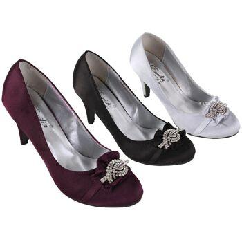 huge selection of 6019c 5588d Damen Woman Trend Strass Steine Glitzer Pumps Schuh Shoes Absatz Business  Freizeit Damenschuhe nur 3,49 Euro