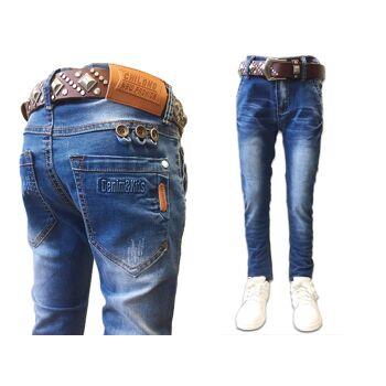 Kinder Kids Jungen Trend Jeanshose Denim Jeans Hosen Hose Skinny - 6,90 Euro