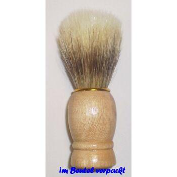 28-616630, Rasierpinsel Holz mit Goldring