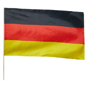 17-14704, BRD Fahne 90x150 cm, am 180 cm Holzstab, LÄnder Flagge