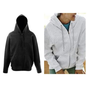 Fruit of The Loom Herren Damen Uni Zip Hoodie Zipper Pullover Kapuze Pulli Mix Restposten Kleidung
