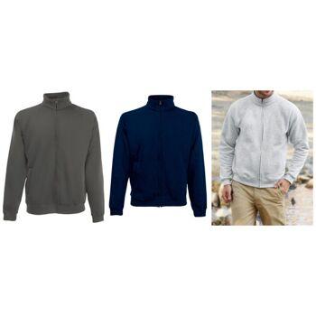 Fruit of The Loom Herren Sweater Zipper Sweat Jacke Mix Sweatjacke Herrenmode Marken Pullover Pulli