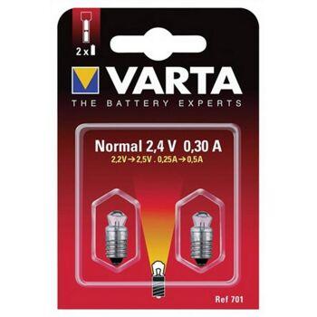 Glühlampe 2,4V 0,70A 751 Krypton mit Stecksockel VARTA 2St./Blister, 2 Stück