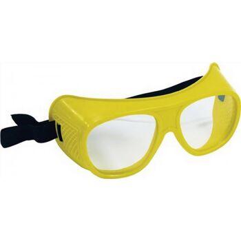 Schutzbrille klar f.Brillenträger splitterfrei mit Gummiband EN166