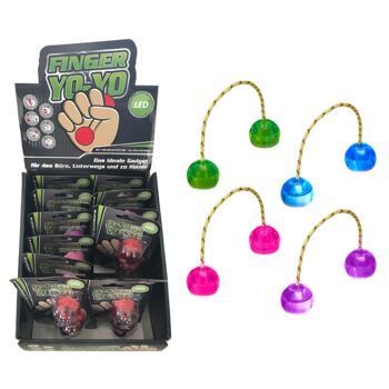 17-63301, Finger Yo-Yo mit bunten LED Licht