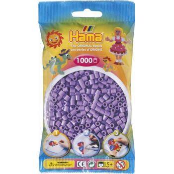 HAMA Perlen Pastell- Lila 1.000 Stück, 5 Set