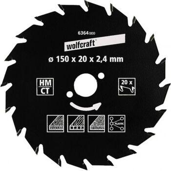 Wolfcraft HM-Kreissägeblätter Serie ''grün'' 190x30mm 30Z HM