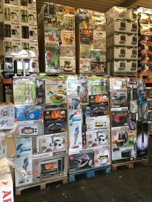 Mixpaletten Mischpaletten Elektro Küchengeräte unsortierte B+C Ware LKW Container EXPORT 350 €