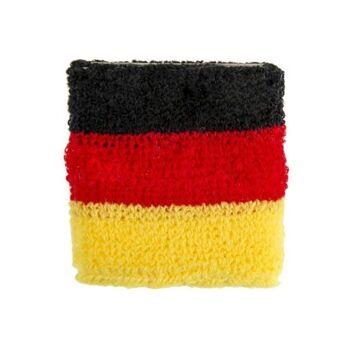 27-42912, Schweißband in Deutschlandfarben, Textilband, Sportband