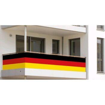 27-47488, Deutschland Balkonumrandung ca 500 x 83 cm, Fahne, Flagge