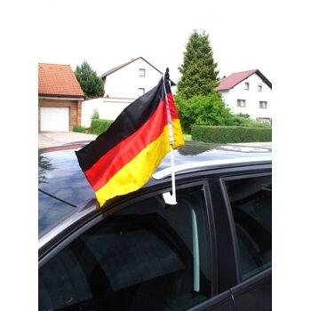 27-88009700, Deutschland Autofahne 45 x 30 cm am Stab, BRD Fahne