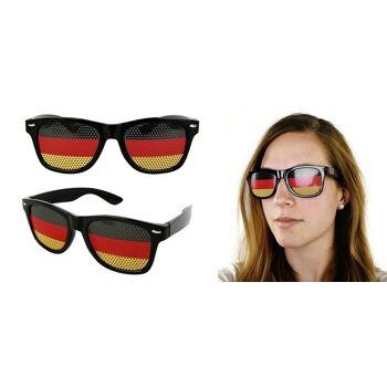 27-99616500, Party-Sonnenbrille Deutschland, hochwertig, Polycarbonat, BRD Farben, Flagge, Fahne
